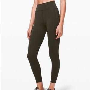 """Lululemon's in movement tight 25"""" leggings"""